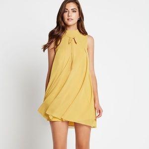 Bcbgeneration High-Neck Pleated Dress